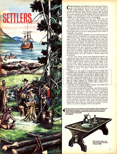 Great Events in History: The American Settlers.