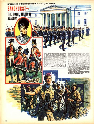 My Scrapbook of the British Soldier: Sandhurst -- The Royal Military Academy.