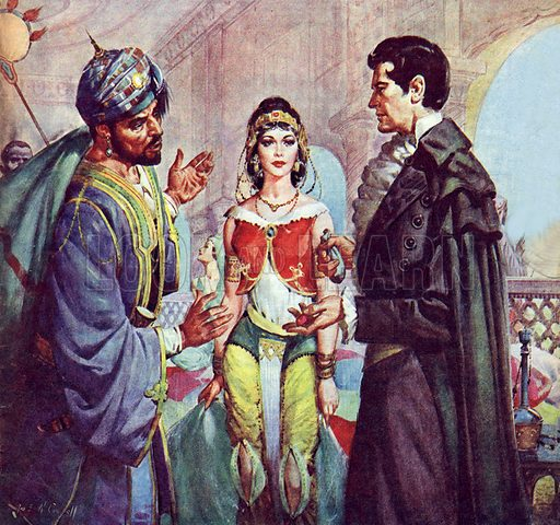 Famous Couples: The Count of Monte Cristo and Haidee.