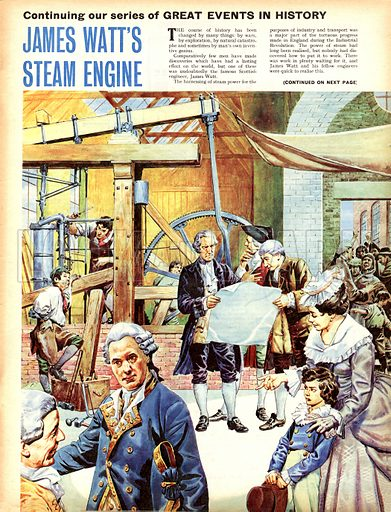 Great Events in History: James Watt's Steam Engine.