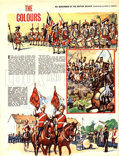 My Scrapbook of the British Soldier: The Colours.