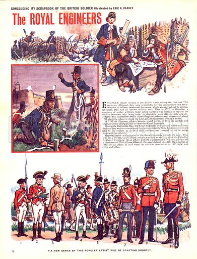 My Scrapbook of the British Soldier: The Royal Engineers.