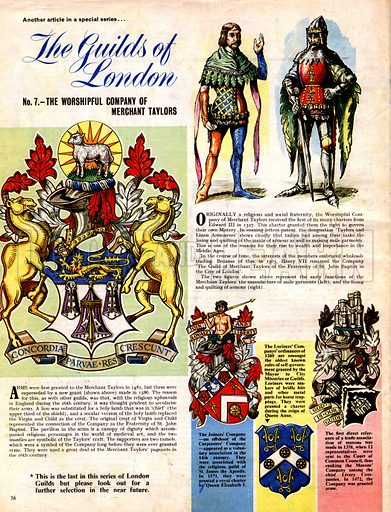 The Guilds of London: The Worshipful Company of Merchant Taylors.