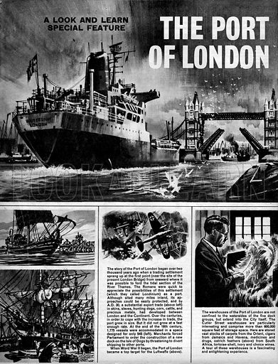 The Port of London.
