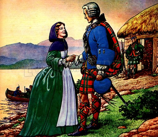 Famous Couples: Bonnie Prince Charles and Flora Macdonald.