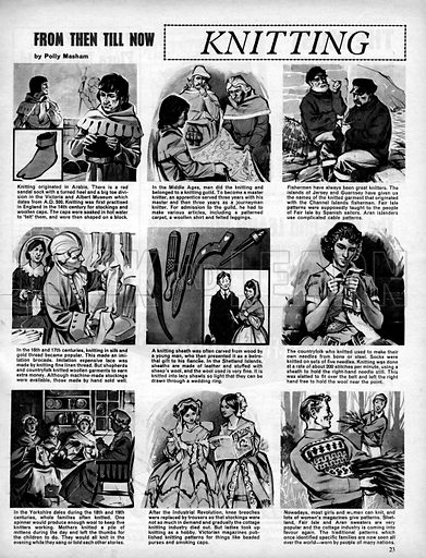 From Then Till Now: Knitting.