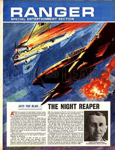 Into the Blue: The Night Reaper. The nickname was given to the Hurricane flown by Czech pilot Karel Luttelwascher, one of the pioneers of night-time fighter operations.