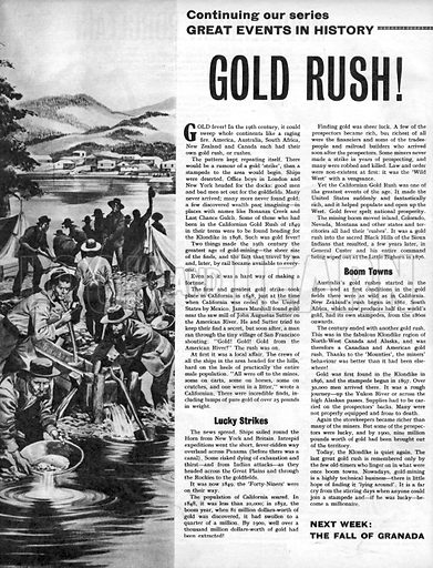 Great Events in History: Gold Rush!.