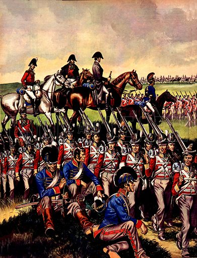 Great Events in History: The Congress of Vienna. Napoleon's advance on Brussels was blocked at Waterloo by an army under the command of the Duke of Wellington.