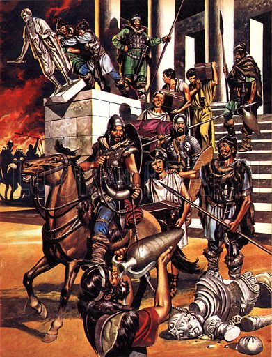 Great Events in History: The Fall of the Roman Empire in the West. The sack of Rome in 410 by the barbarian Alaric and his horde of Visigoths.