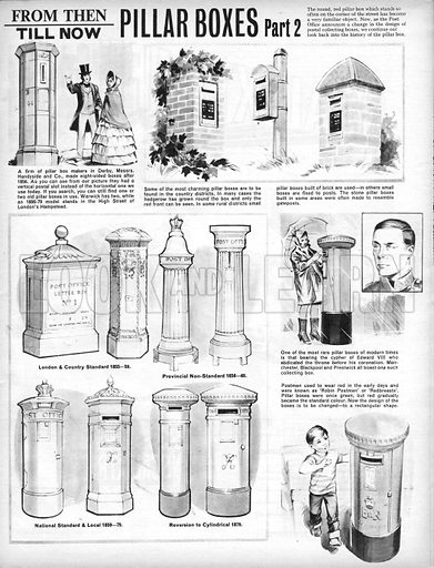 From Then Till Now: Pillar Boxes.