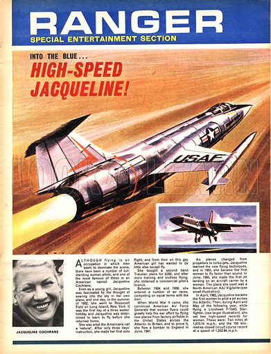 Into the Blue: High-Speed Jacqueline! Jacqueline Cochrane, one of the most famous American women pilots.