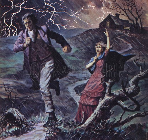 Famous Couples: Heathcliff and Cathy, from the novel Wuthering Heights by Emily Bronte.