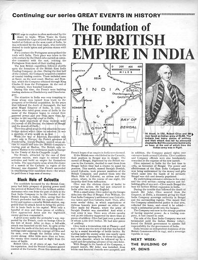 Great Events in History: The Foundation of the British Empire in India.