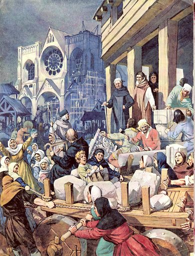Great Events in History: The Building of St. Denis.