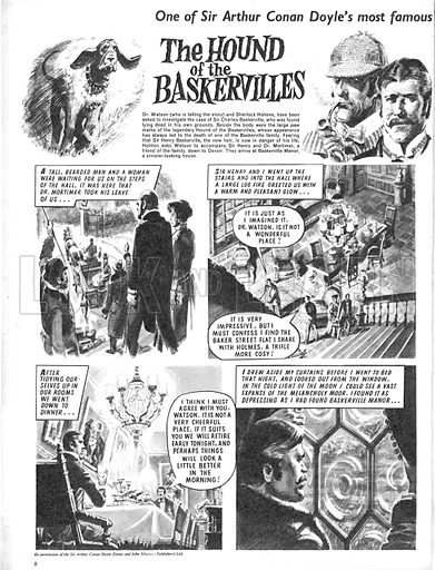 The Hound of the Baskervilles. Based on the novel by Sir Arthur Conan Doyle featuring Sherlock Holmes.