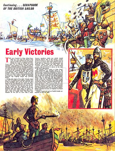 Scrapbook of the British Sailor: Early Victories.