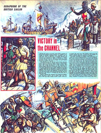 Scrapbook of the British Sailor: Victory in the Channel.