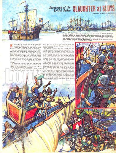 Scrapbook of the British Sailor: Slaughter at Sluys.