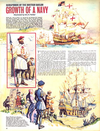 Scrapbook of the British Sailor: Growth of a Navy.