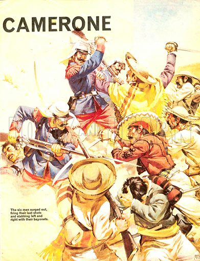 True Adventure: The Devils of Camerone. Six survivors of a Mexican trap held out against overwhelming odds and, when all seemed lost, charged the enemy!.