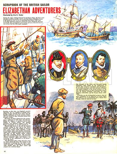 Scrapbook of the British Sailor: Elizabethan Adventurers.