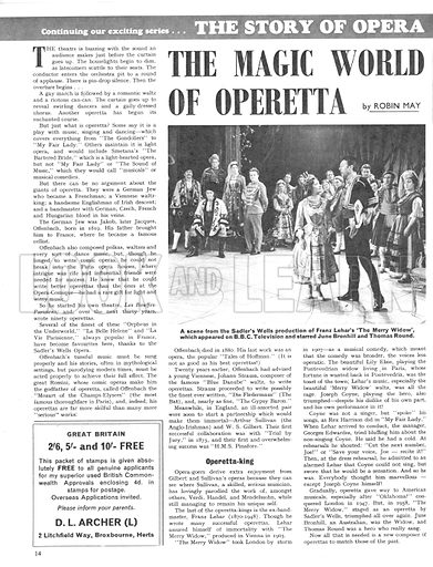 The Story of Opera: The Magic World of Operetta. An argument over the price of the carpet laid down in the Savoy Theatre led to the split of musical opera's most famous team, Gilbert and Sullivan.