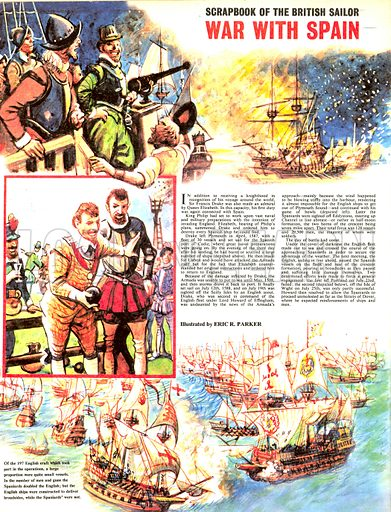 Scrapbook of the British Sailor: War With Spain.
