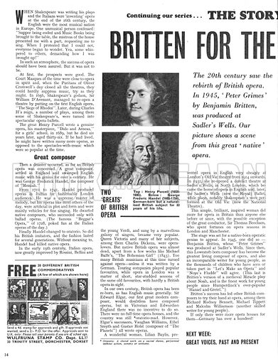 The Story of Opera: Britten for the British! A scene from Peter Grimes, written by Benjamin Britten and produced in 1945 at Sadler's Wells.