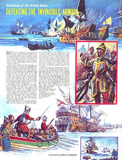 Scrapbook of the British Sailor: Defeating the 'Invincible' Armada.