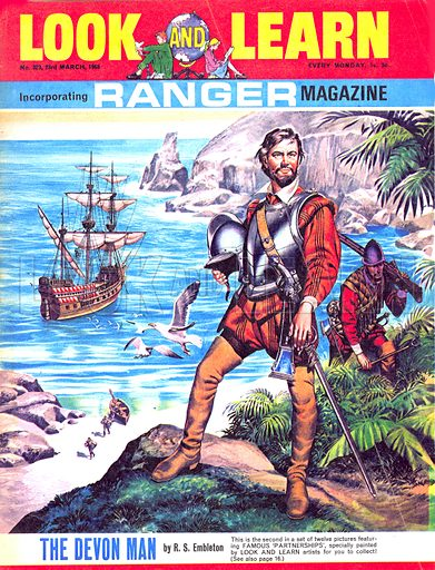 Famous Partnerships: The Devon Man -- Francis Drake and the Golden Hind.