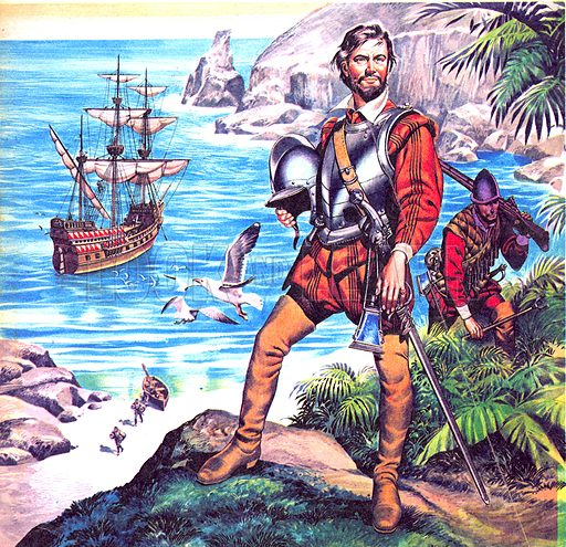 Famous Partnerships: The Devon Man – Francis Drake and the Golden Hind.