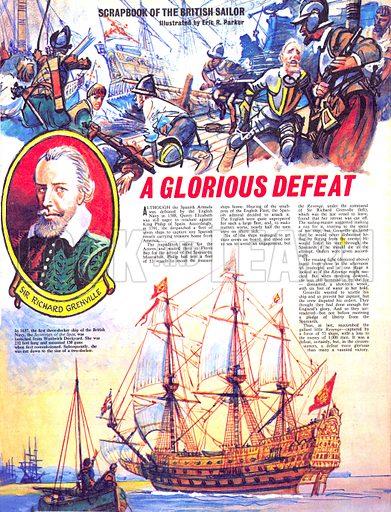 Scrapbook of the British Sailor: A Glorious Defeat.