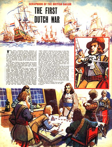 Scrapbook of the British Sailor: The First Dutch War.