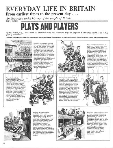 Everyday Life in Britain: Plays and Players.
