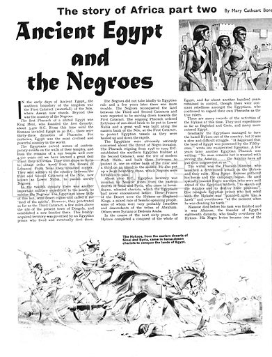 The Story of Africa: Ancient Egypt and the Negroes. In his struggle against the Hyksos, Pharaoh Kamose instructed specially-trained Negro warriors in battle tactics.
