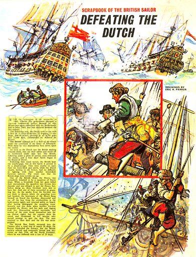 Scrapbook of the British Sailor: Defeating the Dutch.