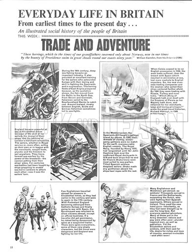 Everyday Life in Britain: Trade and Adventure.