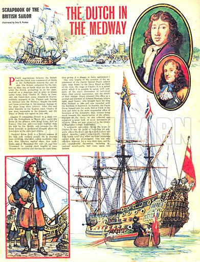 Scrapbook of the British Sailor: The Dutch in the Medway.