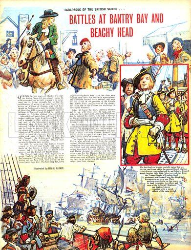 Scrapbook of the British Sailor: Battles at Bantry Bay and Beachy Head.