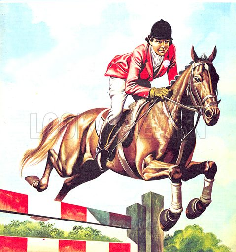 Famous Partnerships: Jump for Joy. Pat Smythe, champion showjumper and her horse Prince Hal.