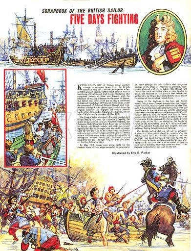 Scrapbook of the British Sailor: Five Days Fighting.