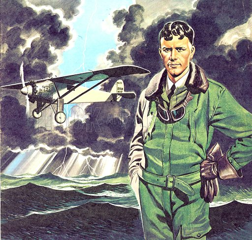 Famous Partnerships: The Spirit of St. Louis. Charles Lindbergh and the plane in whch he flew across the Atlantic, solo.