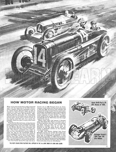 Grand Prix Racing -- the Spanish Grand Prix.