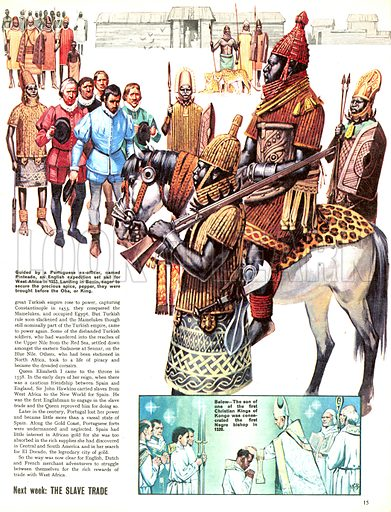 The Story of Africa: Grains of Paradise. Guided by a Portuguese ex-officer named Pinteado, an English expedition set sail for West Africa in 1553. Landing in Benin, eager to secure the precious spice, pepper, they were brought before the Oba, or King.