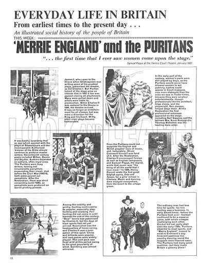 Everyday Life in Britain: 'Merrie England' and the Puritans.
