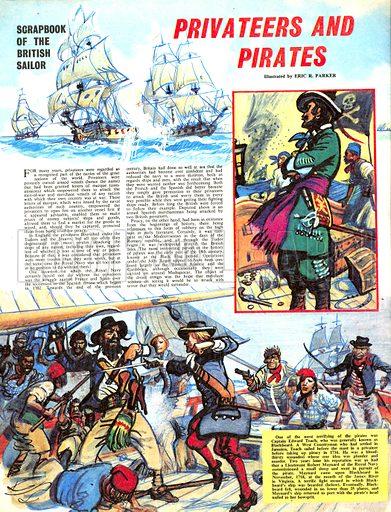 Scrapbook of the British Sailor: Privateers and Pirates.