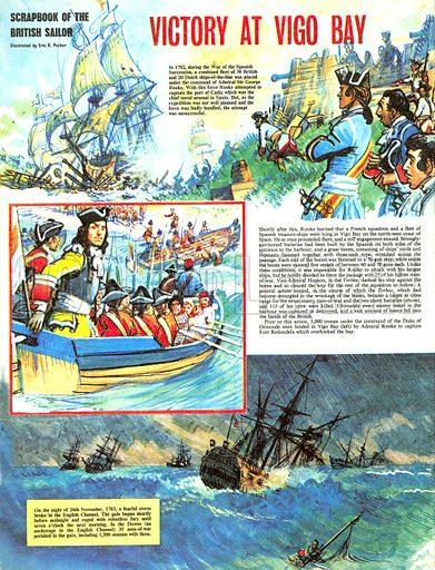 Scrapbook of the British Sailor: Victory at Vigo Bay.