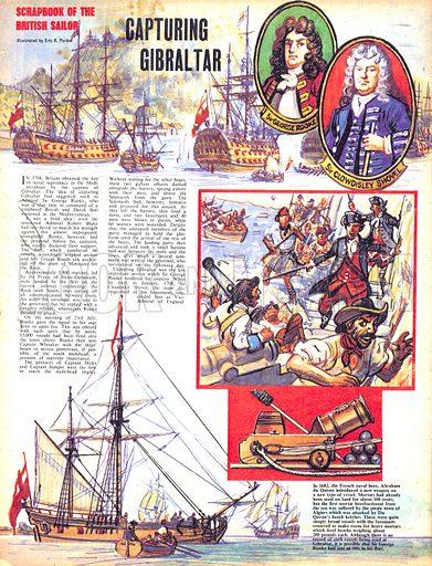 Scrapbook of the British Sailor: Capturing Gibraltar.
