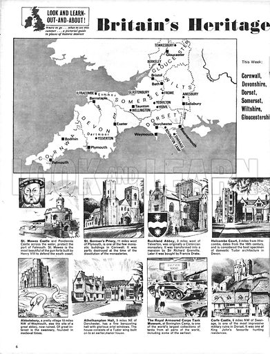 Britain's Heritage: Cornwall, Devonshire, Dorset, Somerset, Wiltshire and Gloucesershire.